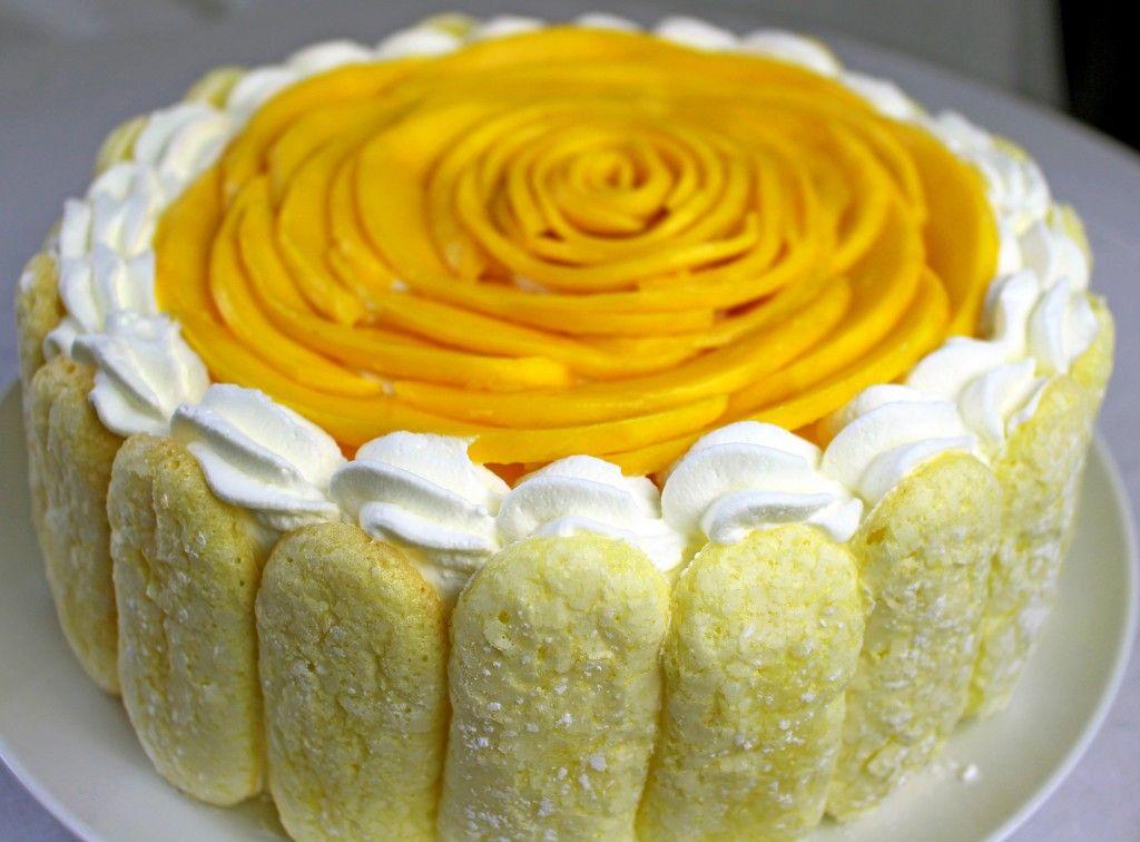 Light summery Mango Mousse Cake recipe SUMMER Pinterest