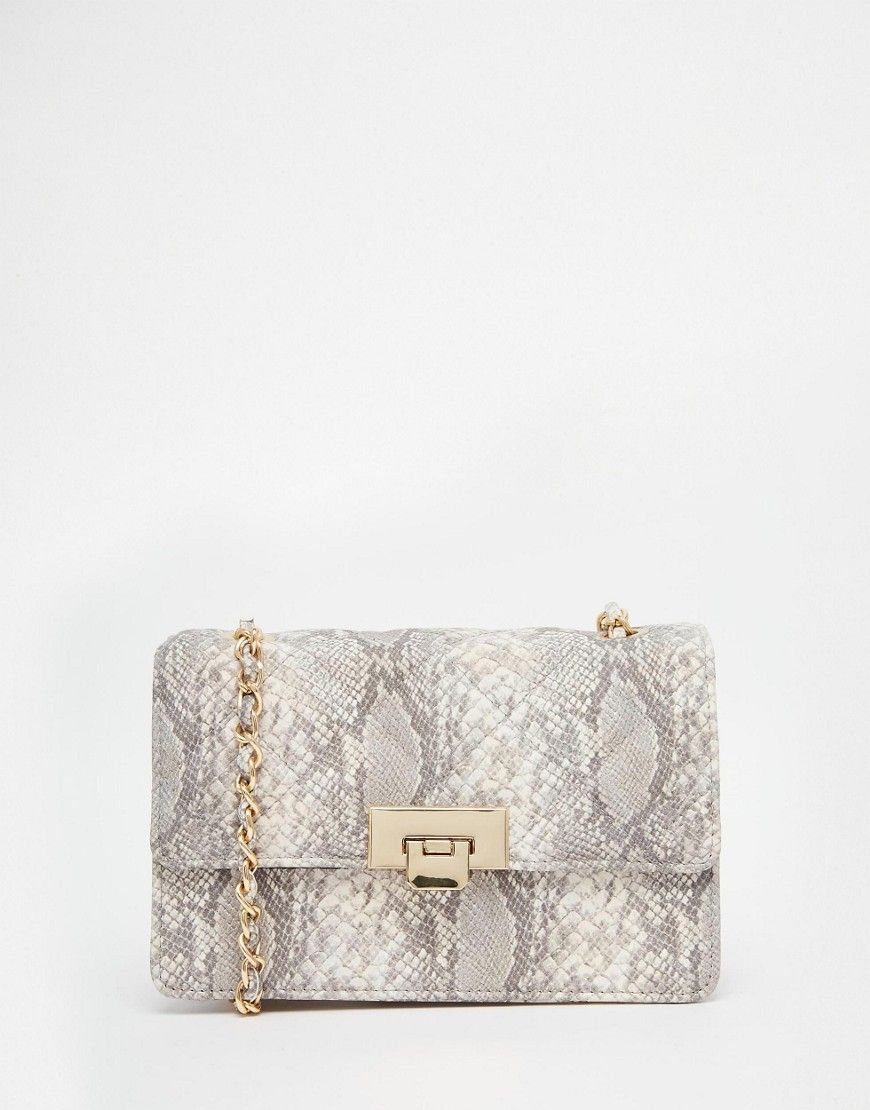 3ccd3cd4d42 Image 1 of ASOS Snake Quilted Cross Body Bag | I love Accessories ...