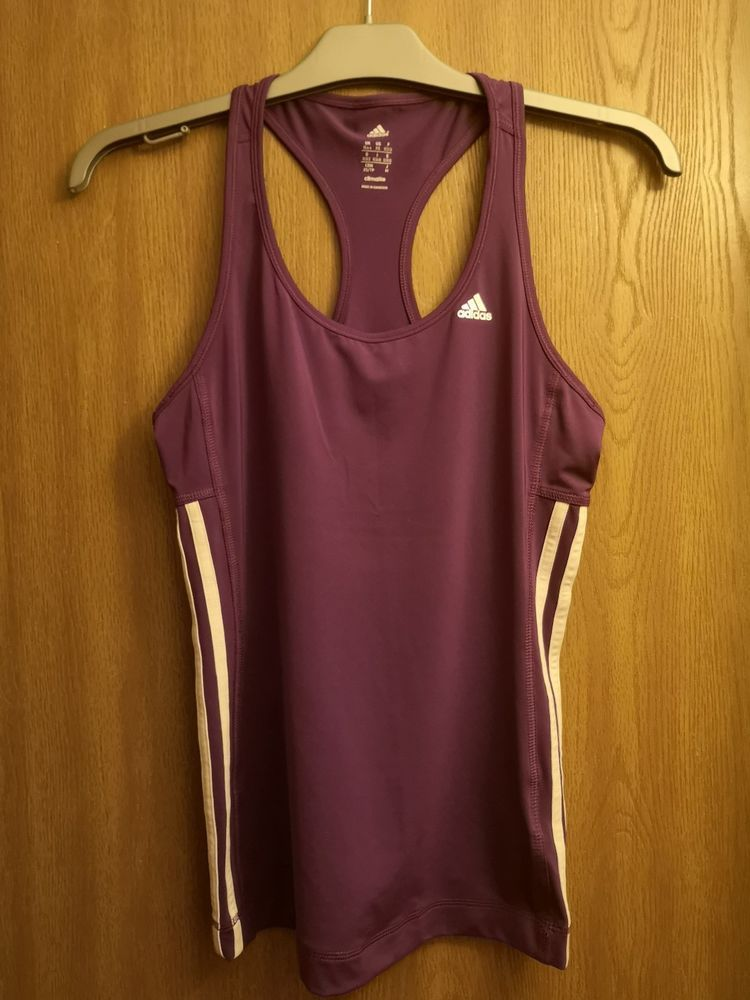 9f1857d28e0a Ladies ADIDAS 3 Stripe Purple Sports Climalite Vest Tank Racer Top Size XS   fashion  clothes  shoes  accessories  womensclothing  activewear (ebay  link)