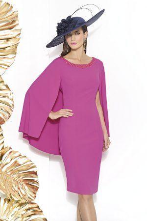 Vestido para fiesta y madrina modelo Fontenoy con atractivo efecto ...