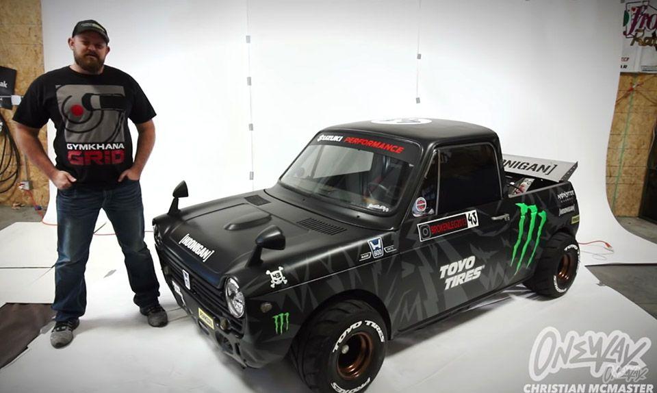 Mini Hoonitruck Has 1000cc Suzuki Gsx R1000 Engine Honda Suzuki