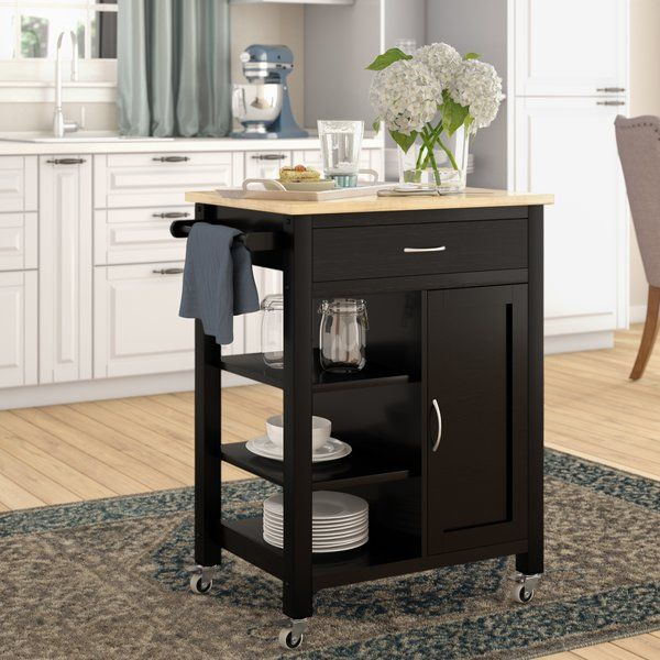 Hiro Kitchen Cart   Kitchen cart. Small white kitchens. Storage spaces