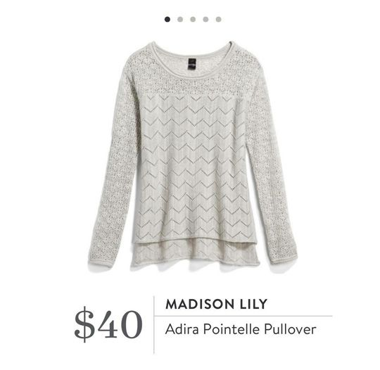 cce090c66979f Stitch Fix  Madison Lily Adira Pointelle Pullover  40. Love how feminine  this is!!