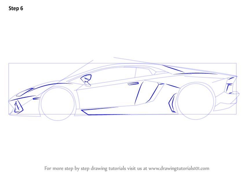 How To Draw Lamborghini Centenario Side View Drawingtutorials101 Com Side View Drawing Car Drawings Lamborghini Centenario