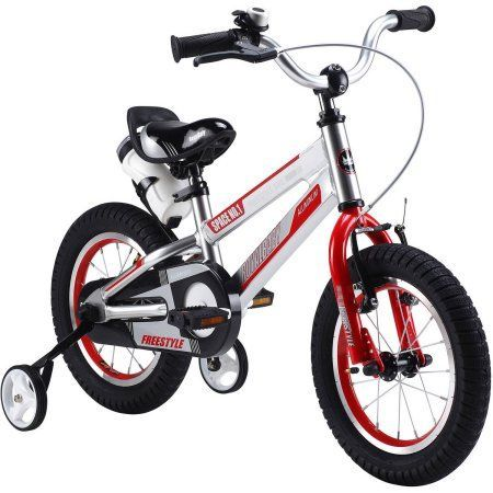 Royalbaby Space No. 1 Kids' Bike, Perfect Gift for Kids, 12 inch wheels, Red, Silver