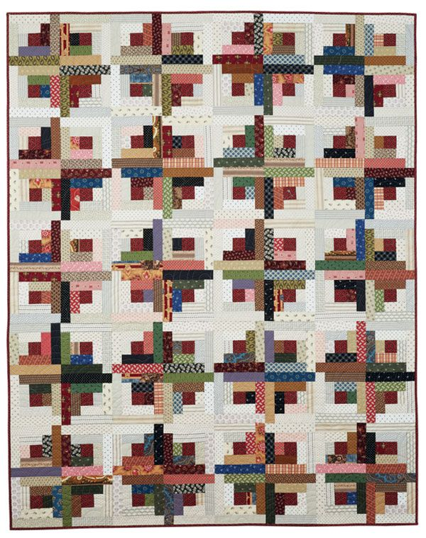 Charmant Free Log Cabin Quilt Patterns