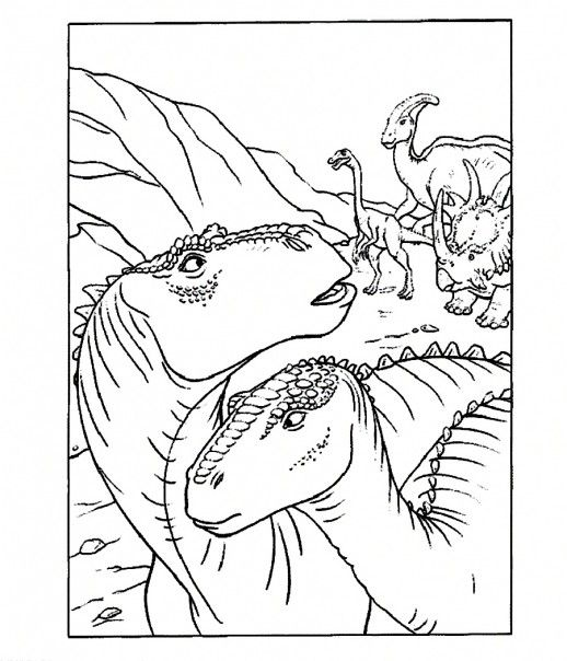 Aladar And Other Group Of Dinosaur The Movie Coloring Pages | Aladar ...