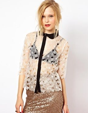 Jovonna dress with lace top