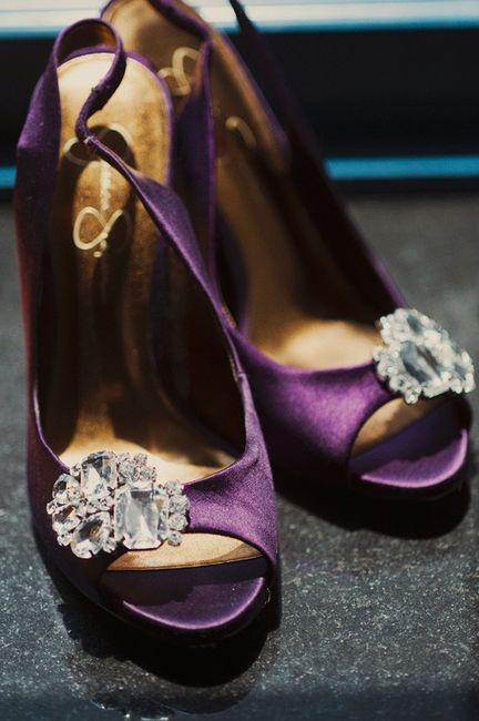Satin Plum Peep Toe Heels Jessica Simpson With Bling Satin