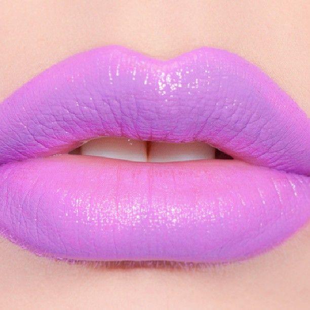 Airborne Unicorn : Medium purple lipstick with a neon note. Hue as ...