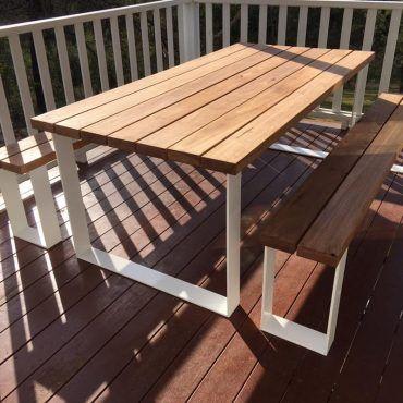 Tremendous Ultimate Outdoor Setting Timber Table Loop Legs Bench Uwap Interior Chair Design Uwaporg