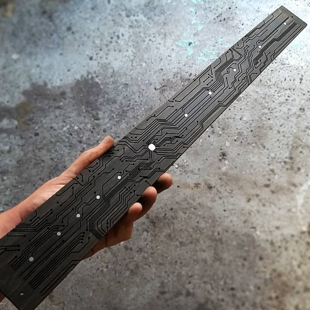 "Red Layer Guitars on Instagram: ""This has been the fifth time I made this fretboard. It never ended up on a finished guitar tho. Now that I have a better idea for the body,…"""