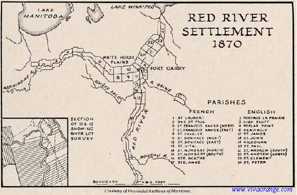 Canada Map Red River RED RIVER SETTLEMENT MAP | Red river, Canadian history, River