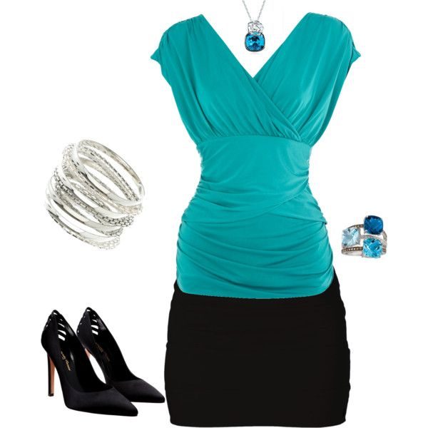 Blue and Black, created by maggie-ledbetter on Polyvore