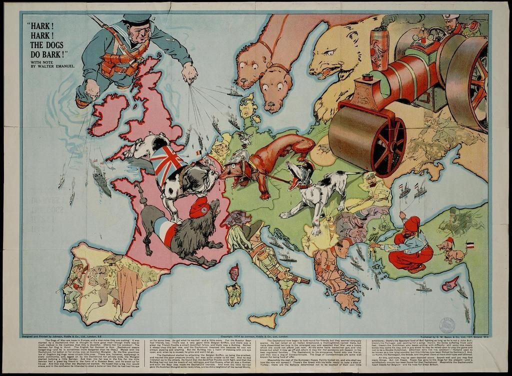 10 maps of Europe drawn in caricature