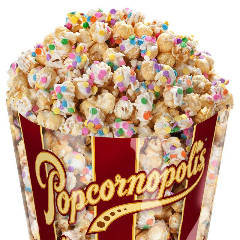 Cake batter popcorn cupcake popcorn popcornopolis