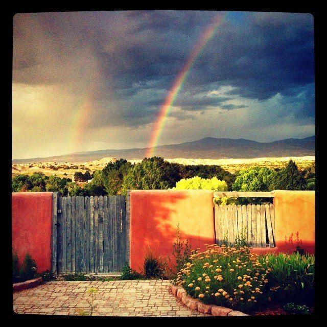 Double Rainbow outside Santa Fe!