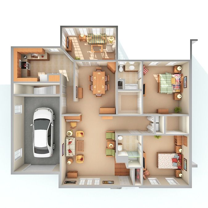 800 Sq Ft House Plans 3d