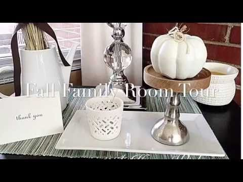 Fall Family Room Tour -2016 - YouTube