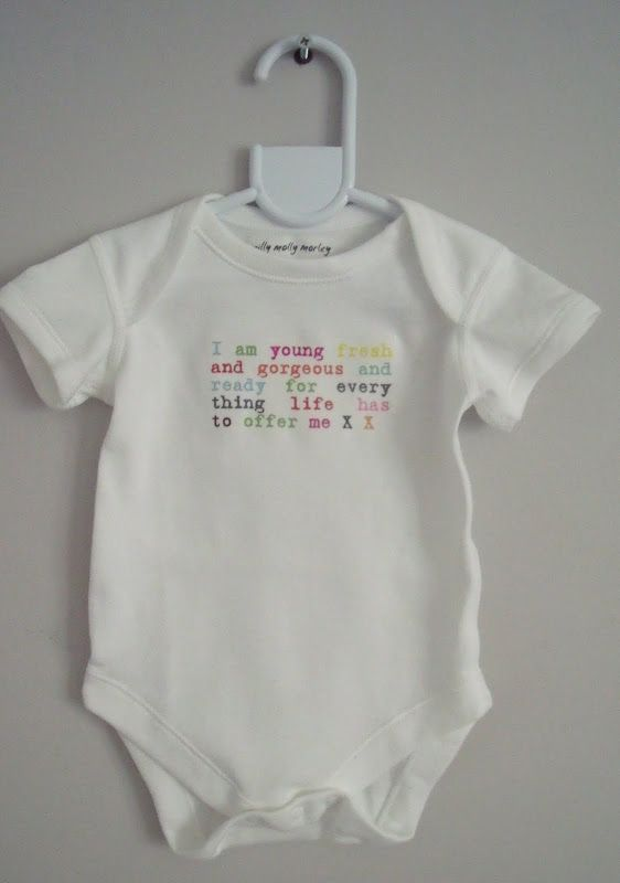 Fantastic slogan bodysuit/vest babygro baby girl or boy www.millymollymorley.co.uk