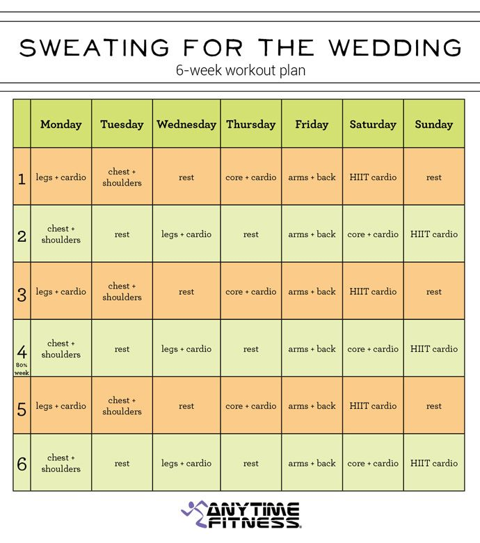 6-Week Pre-Wedding Workout Plan - Get In Shape For Your Wedding