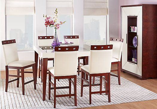 Sofia Vergara Savona Ivory 5 Pc Counter Height Dining Room In 2020