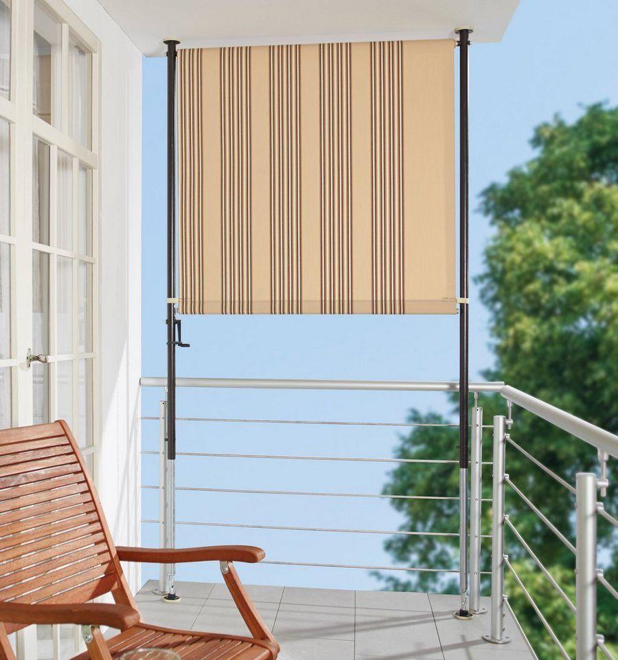 Angerer Freizeitmobel Balkonsichtschutz Beige Braun Bxh 120x225