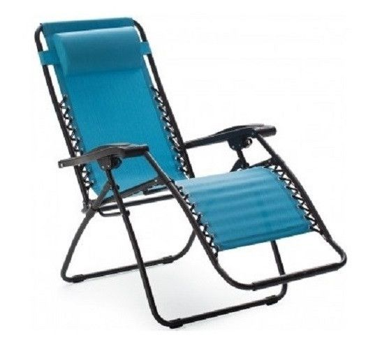 Aqua Blue Reclining Lounge Chair. This full body Reclining Lounge Chair takes the effects of gravity out of the equation for complete relaxation with it's ergonomically shaped design . Take time out and loose yourself while basking in the sun near your pool, at the beach, on the patio or just lounging in the yard. There are many different lounging positions to choose from to get that perfect level of relaxation. The adjustable padded head rest offers even more comfort and it's removable…