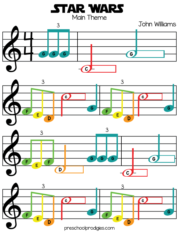 All Music Chords star wars sheet music : Boomwhacker Lightsaber Duel - Star Wars Fun for the Musically ...