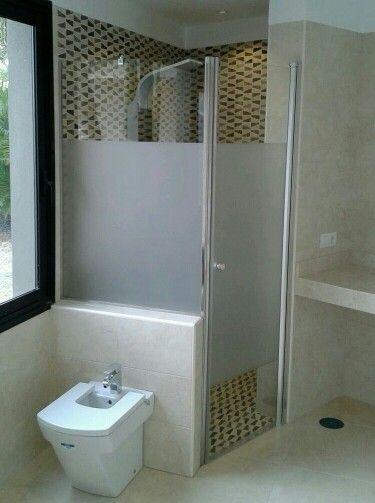 Mampara de ducha con vinilo efecto arenado joaquim - Vinilo mampara ducha ...