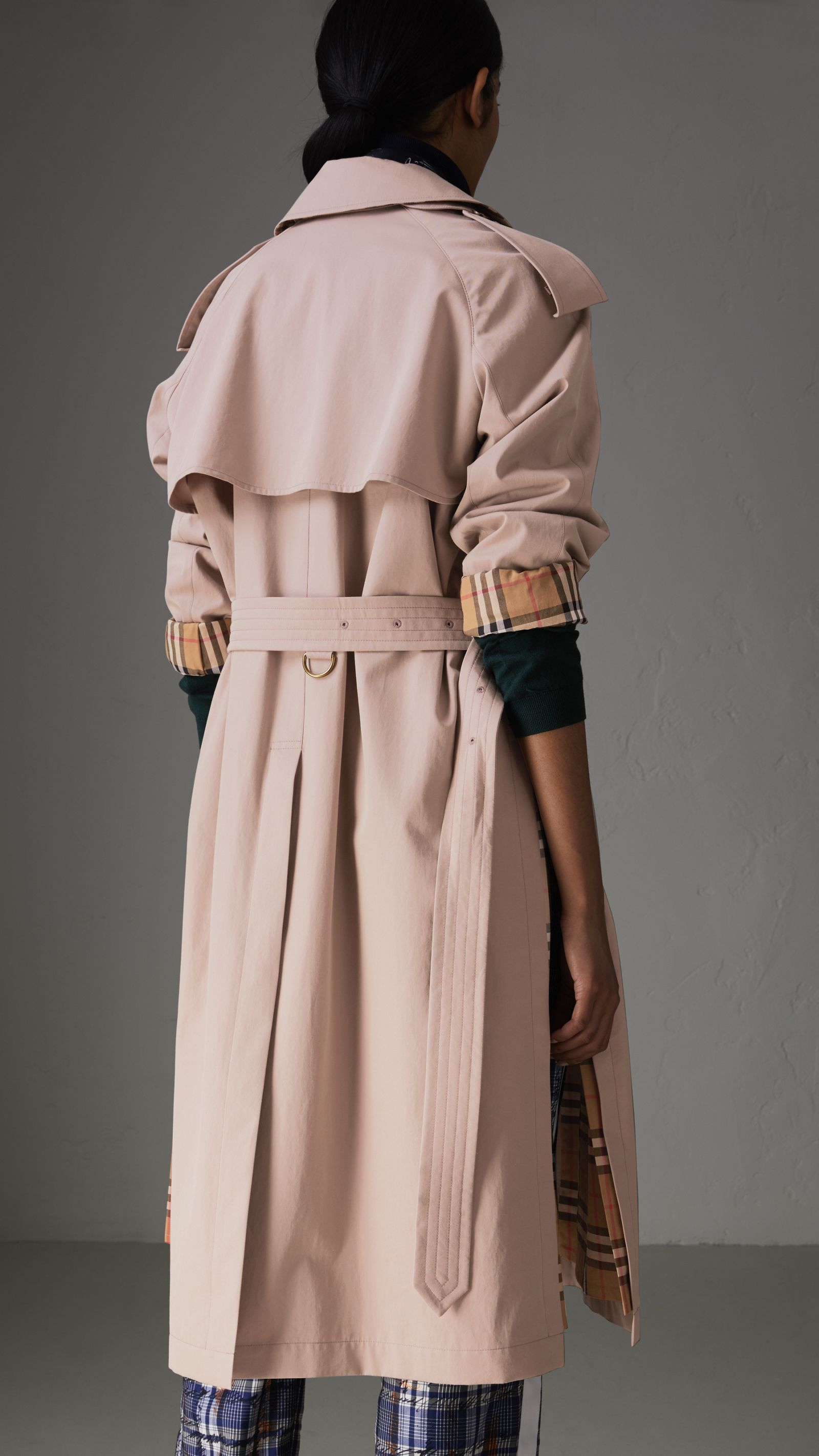 b67146edc0da Side-slit Tropical Gabardine Trench Coat in Antique Taupe Pink - Women    Burberry United States