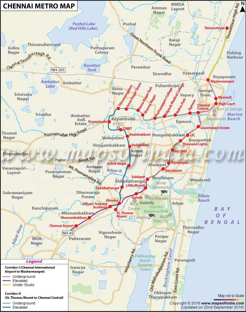 Chennai Metro Map Kausik Pinterest Chennai metro