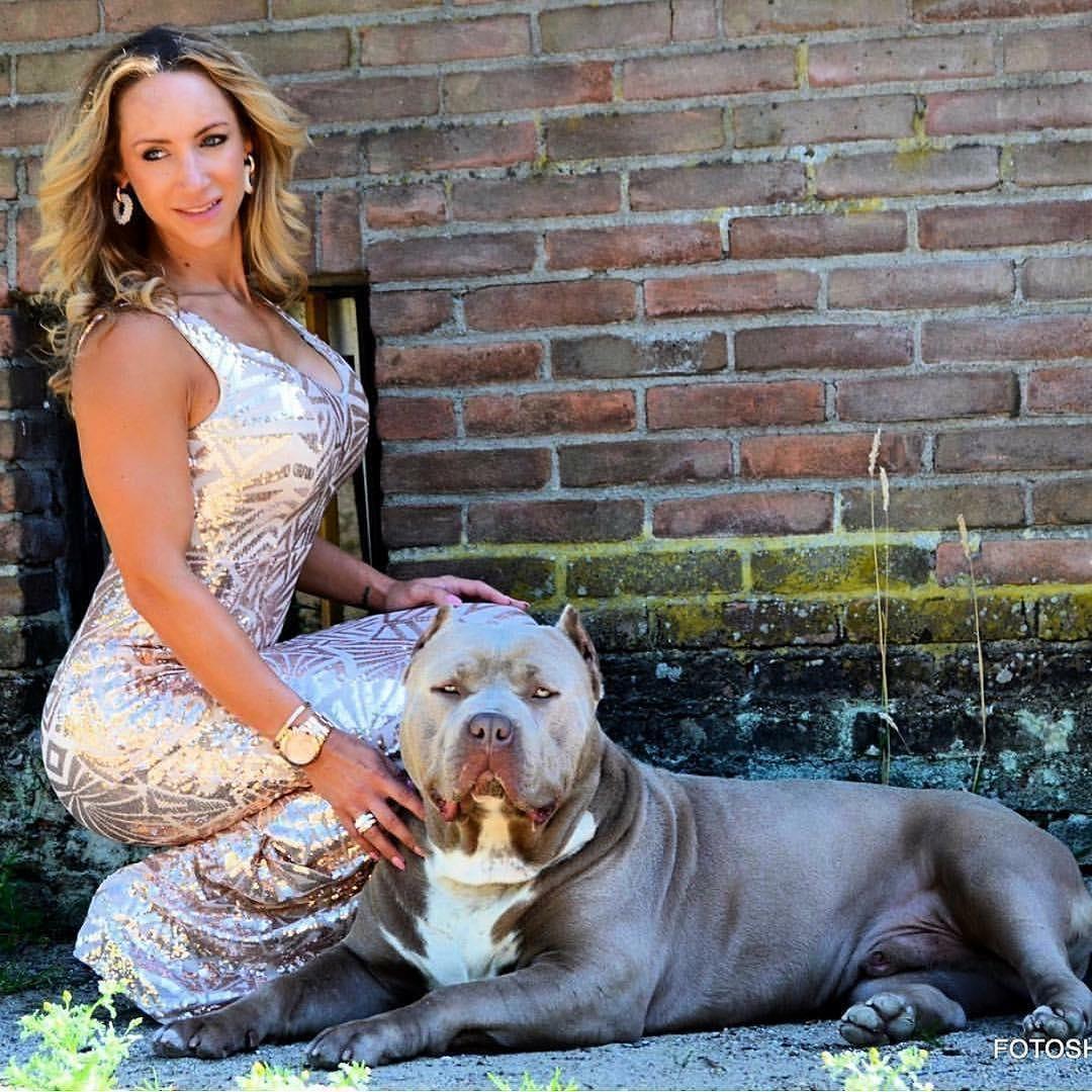 Girlswithbullies Americanbully Americanbullys Americanbullies Simonemagh Girl And Dog Pitbulls Bully Dog