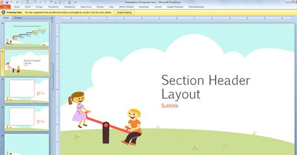 free children powerpoint template with cartoons for powerpoint 2013