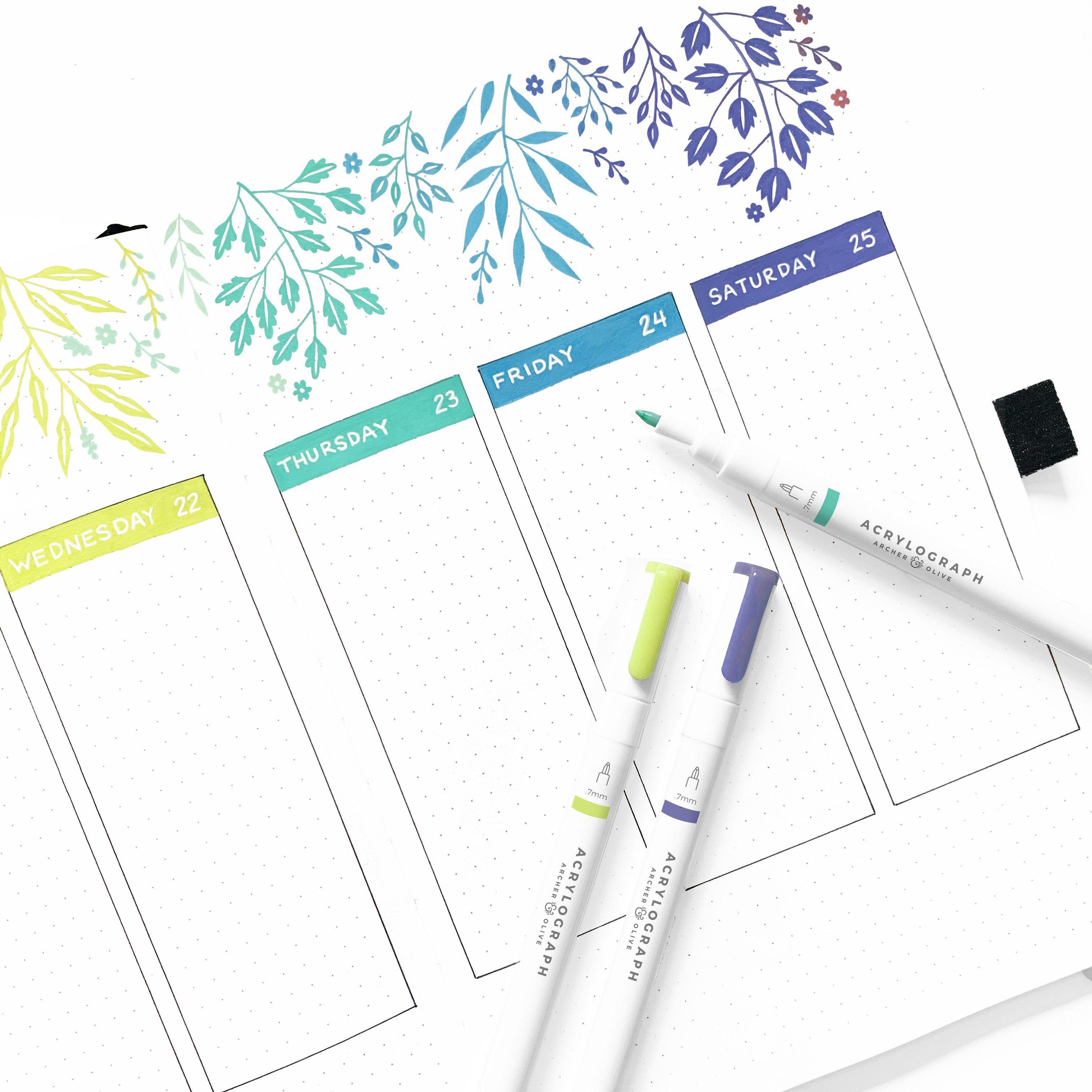 Acrylograph Pens Tropical Selection 0.7mm Tip