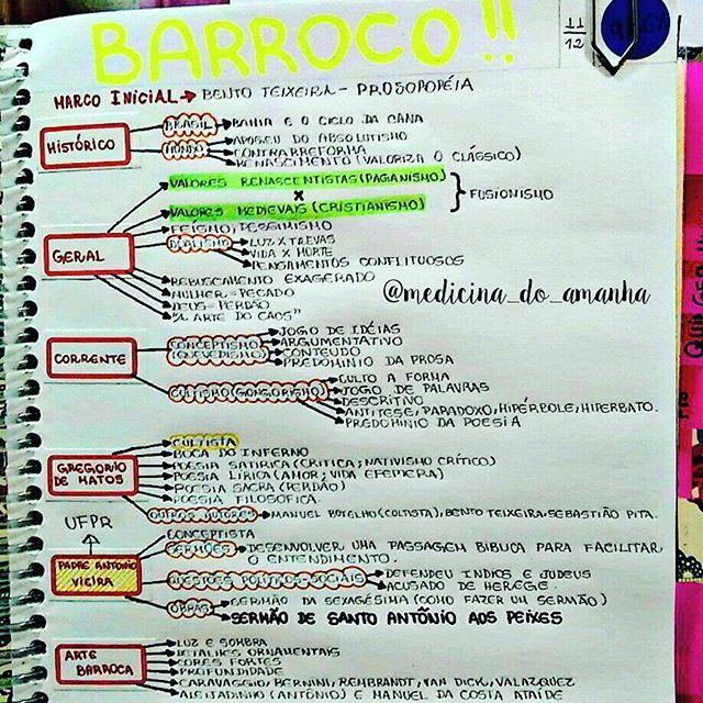 #RESUMO #LITERATURA #BARROCO Também Já Está Disponível