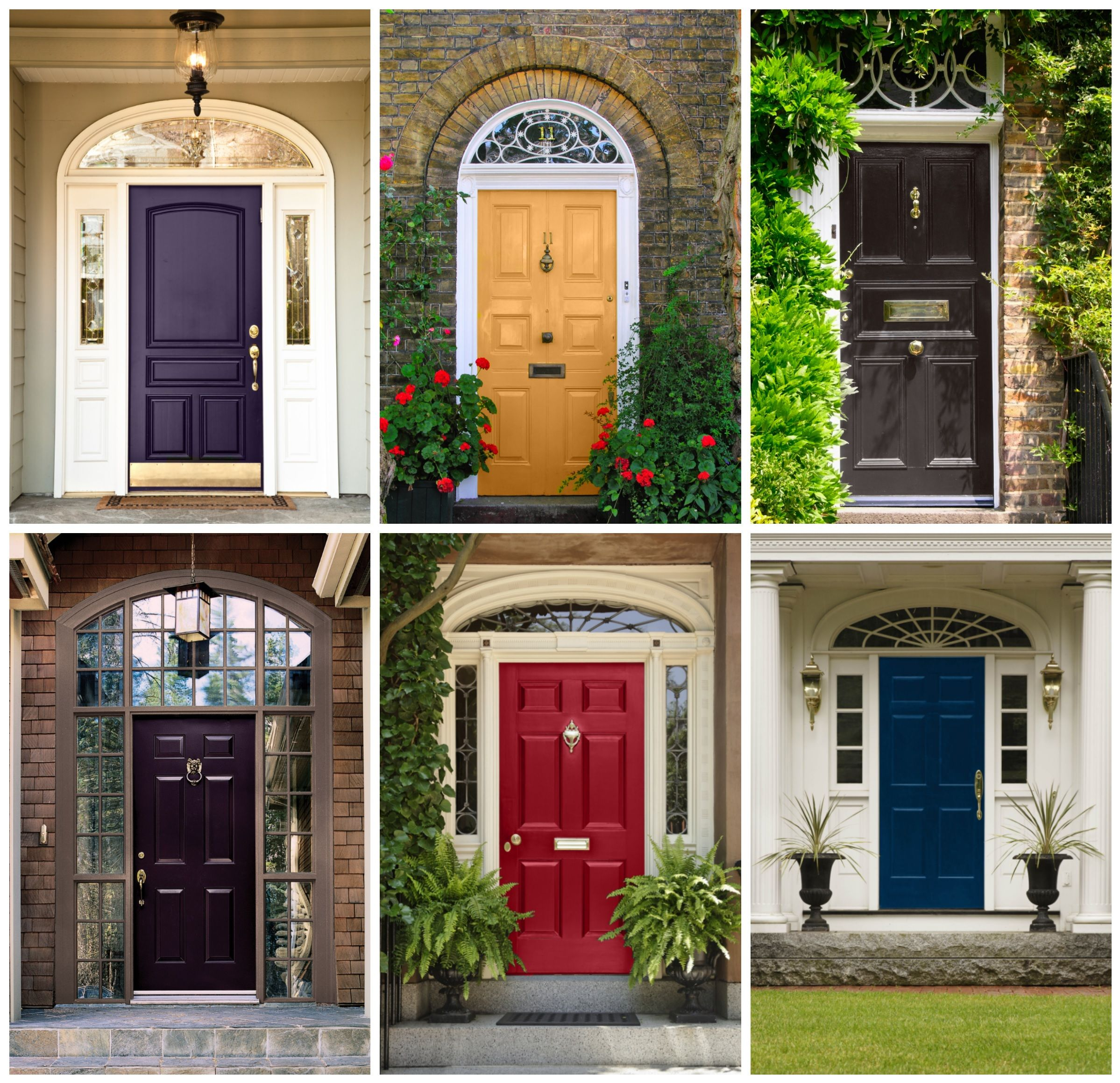 front entry door colour inspiration for the home