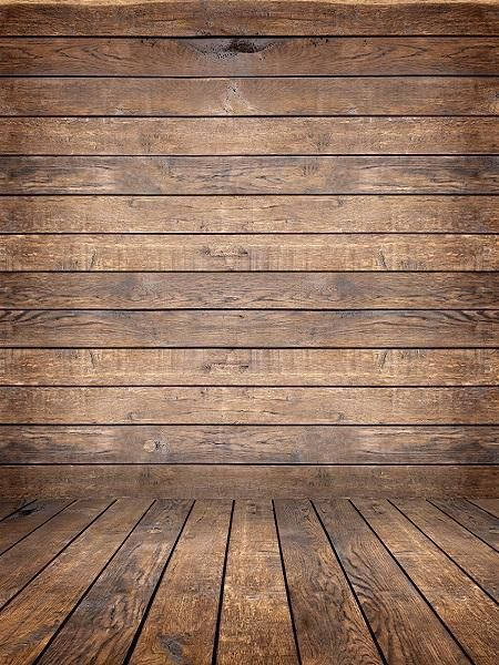 Kate Retro Dark Wood Background with Wood flooring Backdrop for
