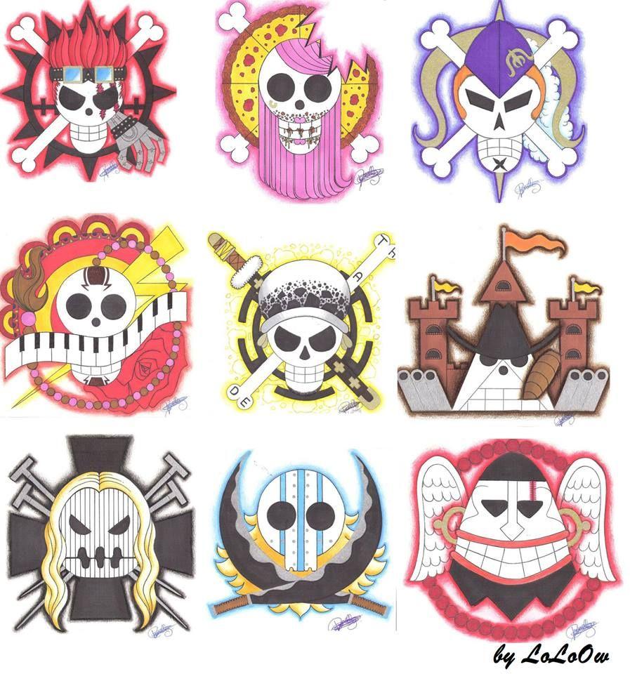 Resultado De Imagen Para One Piece Supernovas Jolly Rogers Manga
