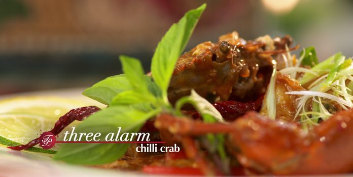 Three alarm chili crab asian food channel asia on a plate three alarm chili crab asian food channel forumfinder Choice Image