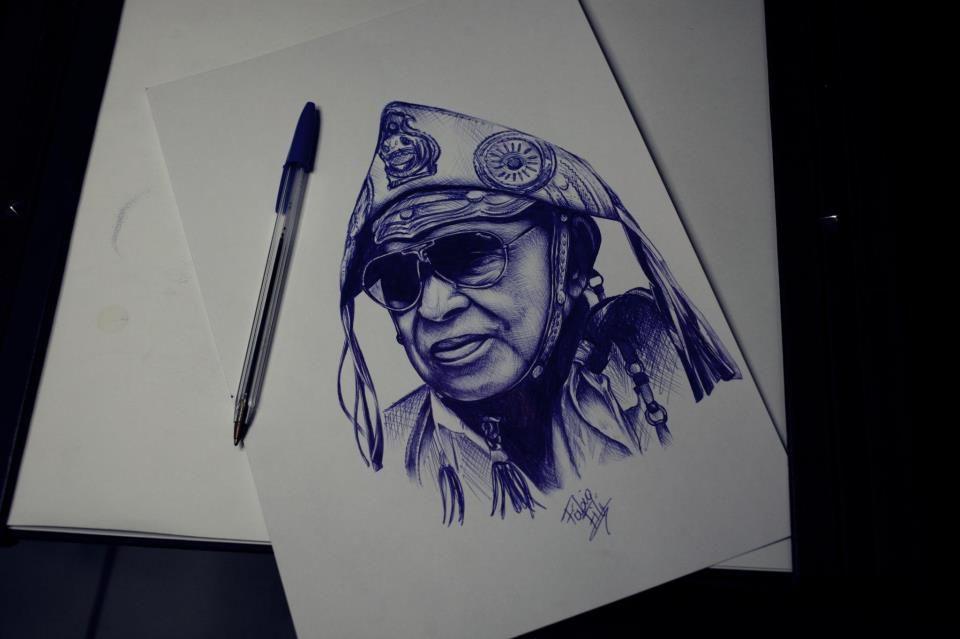 Ilustracao Do Rei Do Baiao Feita Pelo Tatuador Fabio File Http