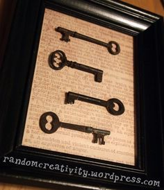 framing skeleton keys without usingglue