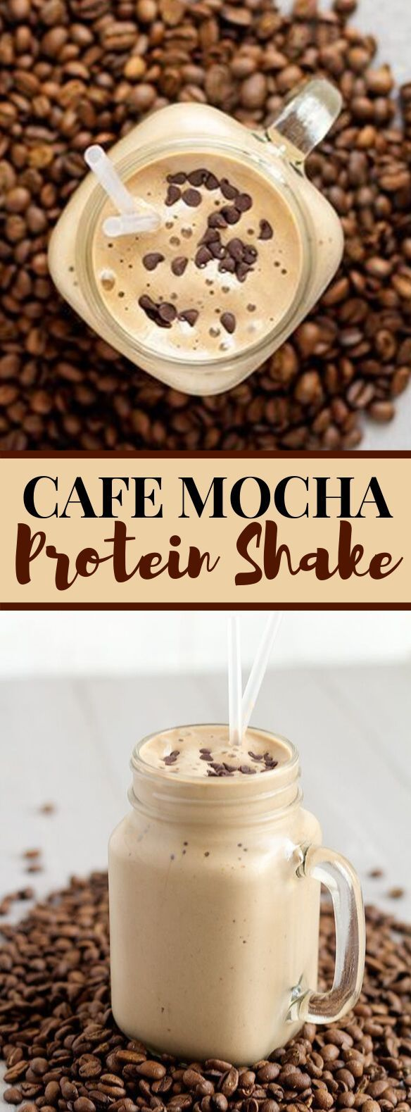 Cafe Mocha Protein Shake #drinks #smoothies #proteinshakes