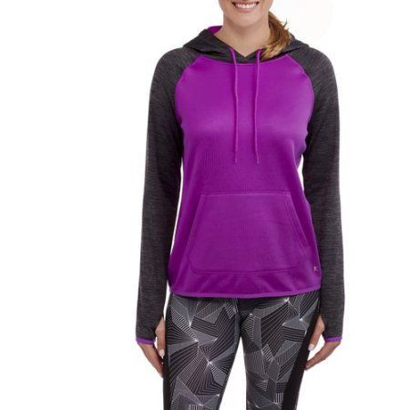 Danskin Now Women's Active Tech Fleece Pullover Hoodie, Size: XS, Blue