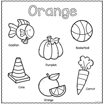 The Color Orange Printable Activities Color Of The Week Color Activities For Toddlers Color Worksheets For Preschool Color Of The Week