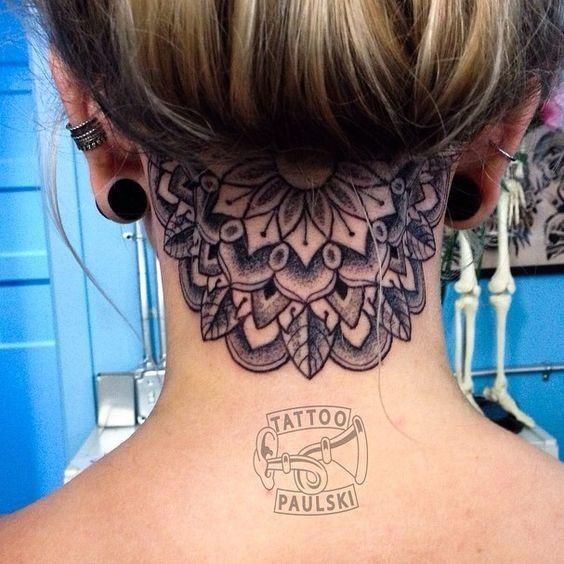 Hidden Half Undercut Tattoos Neck Tattoo Tattoos