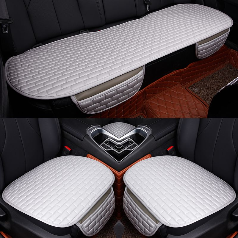 Super luxe Autostoel Protector Mat Auto Voorzijde Zitkussen Enkele Meeste Voertuigen Stoelhoezen, auto Bekleding Voor Alle Sedan