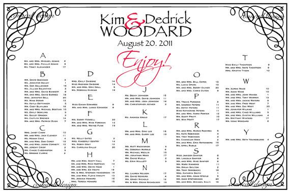 Wedding Seating Board Digital File By Conncall On Etsy
