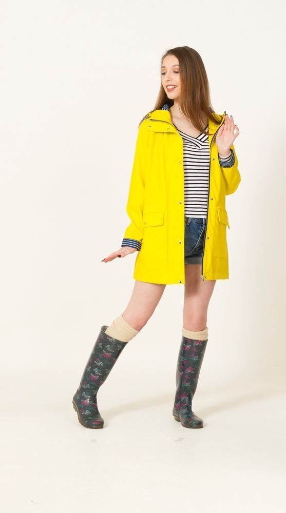 Water Resistant Rubber Rain Coat (Yellow) - £39.99. Shower Proof Rubber Rain Coat. Colours: Yellow. style sewn in , and it's what. It has been said that our clothes have. unique style, built for the fashion conscious. | eBay! #RaincoatsForWomenShoes