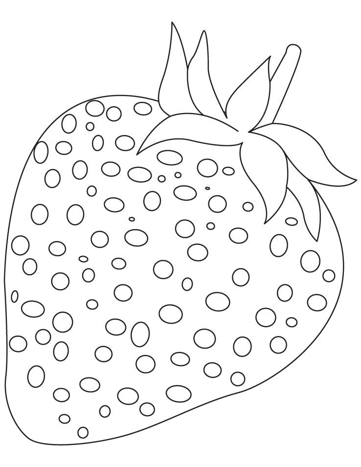 Strawberry Fruit Coloring Pages Download Free Strawberry